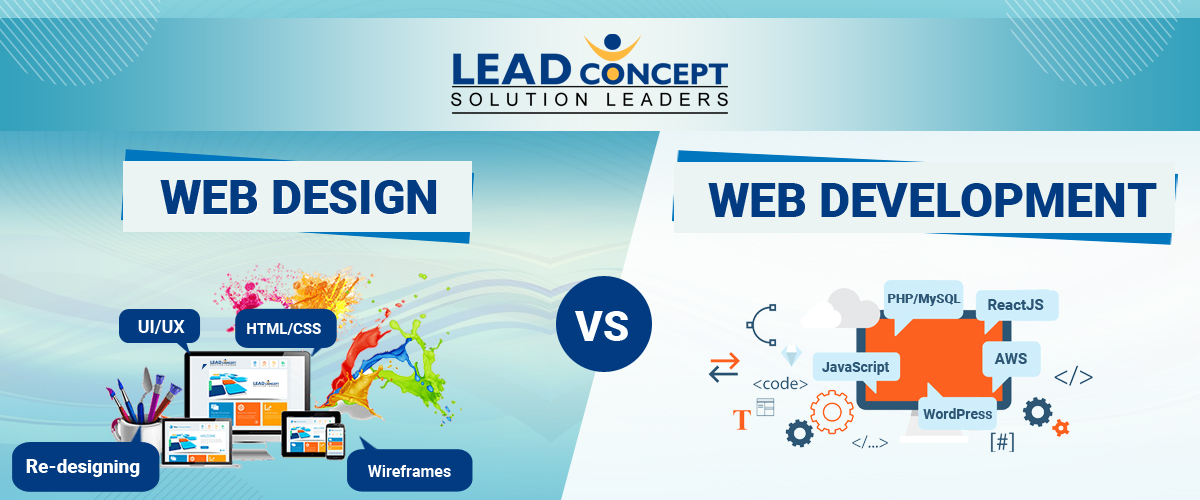 What is the Difference between Website Design and Website Development - LEADconcept